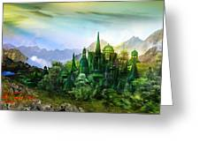 Emerald City Greeting Card by Mary Hood