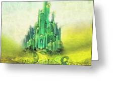 Emerald City Greeting Card by Mo T