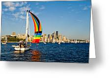 Emerald City Sail Greeting Card