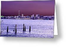 Emerald City Skyline Greeting Card