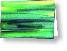 Emerald Flow Abstract Painting Greeting Card