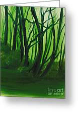 Emerald Forest. Greeting Card