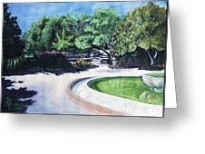 Emerald Fountain Greeting Card