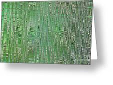 Emerald Green - Abstract Art Greeting Card