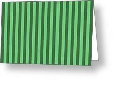 Emerald Green Striped Pattern Design Greeting Card