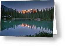 Emerald Lake At Sunrise Hour Greeting Card