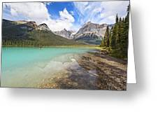 Emerald Lake Vista Greeting Card by George Oze