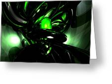 Emerald Nigthmares Abstract Greeting Card