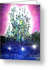 Emerald Palace Of Ancient Queen Of Space Aliens Greeting Card