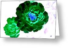 Emerald Rose Greeting Card
