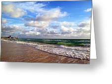 Emerald Seas Greeting Card