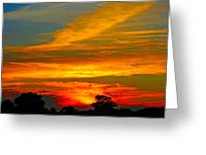 Emerald Sunset Greeting Card