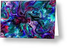 Emergence Of Feminine Emotions. Greeting Card