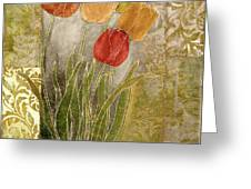 Emily Damask Tulips IIi Greeting Card