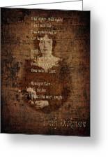 Emily Dickinson 4 Greeting Card
