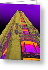 Emily Morgan Hotel With Cobalt Sky Greeting Card