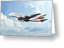 Emirates A380-800 A6-eer Greeting Card