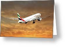 Emirates Boeing 777-36n 2 Greeting Card