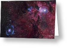 Emission Nebula Ngc 6188 Star Formation Greeting Card
