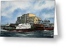 Emma Foss Barge Assist Greeting Card