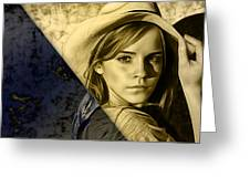 Emma Watson Collection Greeting Card