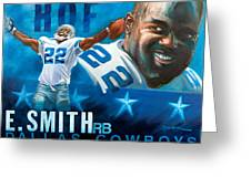 Emmit Smith Hof Greeting Card