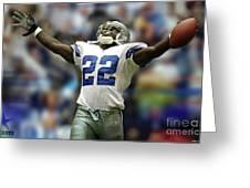 Emmitt Smith, Number 22, Running Back, Dallas Cowboys Greeting Card