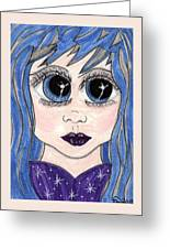Emo Girl I Greeting Card