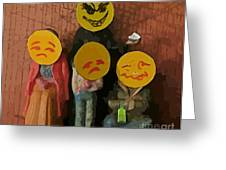 Emoji Family Victims Of Substance Abuse Greeting Card