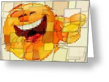 Emoticon Mosaic Cubism Greeting Card