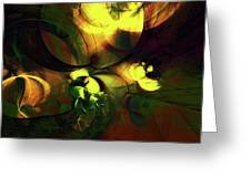 Emotion In Light Abstract Greeting Card
