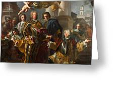 Emperor Charles Vi And Gundacker, Count Althann Greeting Card