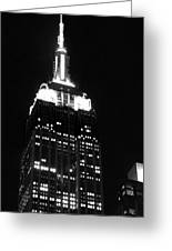 Empire State B W  Greeting Card