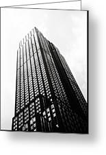 Empire State Building 1950s Bw Greeting Card