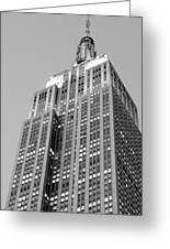 Empire State Building B W Greeting Card