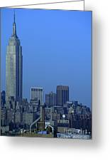 Empire State Building Dusk New York City Greeting Card