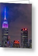Empire State Building Esb At Night Greeting Card