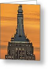 Empire State Building Esb Broadcasting Nyc Greeting Card