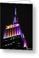 Empire State Building In Pastel Color Greeting Card