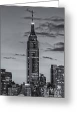 Empire State Building Morning Twilight Iv Greeting Card by Clarence Holmes