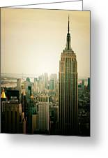 Empire State Building New York Cityscape Greeting Card by Vivienne Gucwa