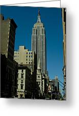 Empire State Building Seen From Street Greeting Card