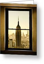 Empire State Building View Greeting Card