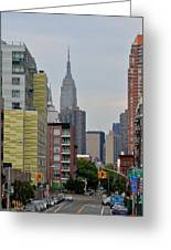Empire State Empty Street Greeting Card