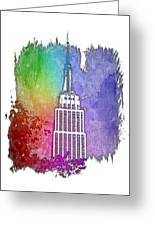 Empire State Of Mind Cool Rainbow 3 Dimensional Greeting Card