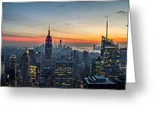 Empire State Sunset Greeting Card