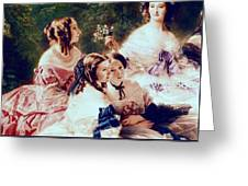 Empress Eugenie And Her Ladies In Waiting Greeting Card