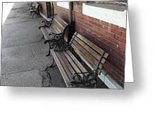 Empty Benches Greeting Card