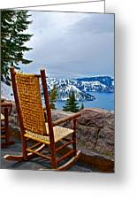 Empty Chair Greeting Card by Dorota Nowak