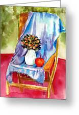 Empty Chair Greeting Card by Zara GDezfuli